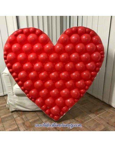 Mosaico forma corazón tu fiesta mola mazo
